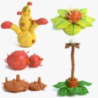 3d alien plant model