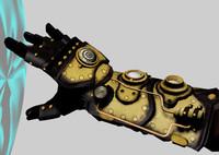 steampunk glove fbx
