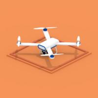 flat drone 3d max