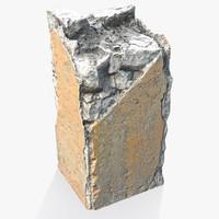 Broken Concrete Pillar