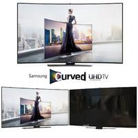 samsung curved smart uhd 3d model