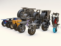 furniture castors 3d model