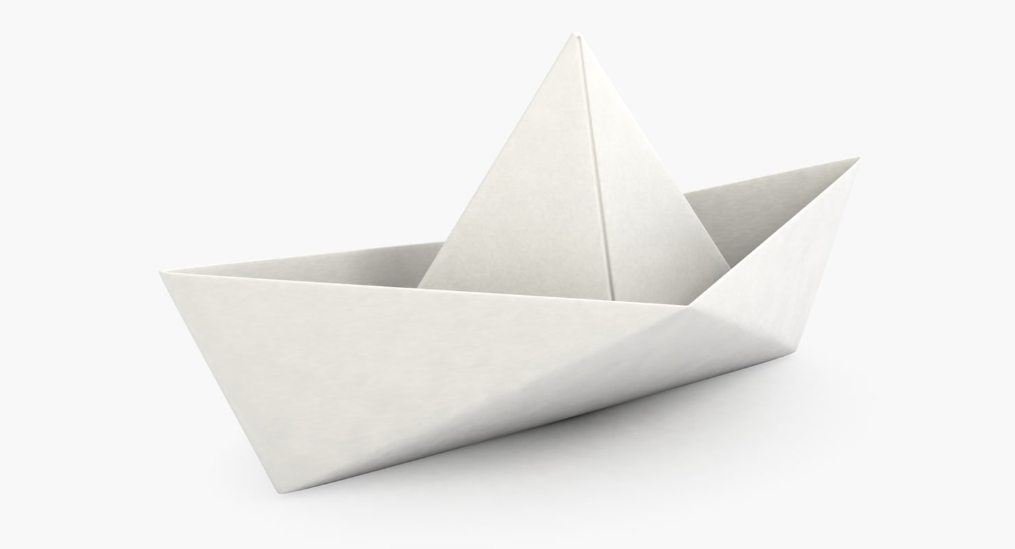 how to make a 3d origami boat