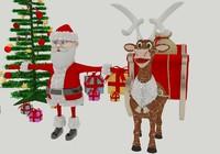 santa claus deer max