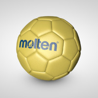 handball ball 3d c4d