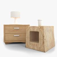 nightstand night stand 3d model