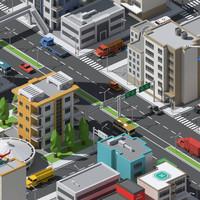3d simplepoly urban assets -