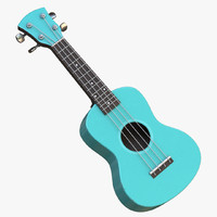 cartoon ukulele 3d model