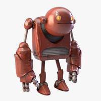 robot realistic metal 3d obj