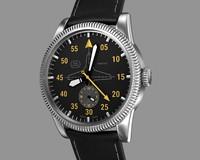 3d model aviator wrist watch design