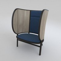 3d hideout lounge chair model