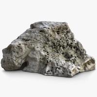 coral rock 1 3d model