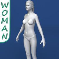 realistic woman modeled female body max