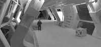 3d model hallway ship station