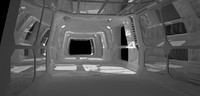 hallway space ship 3ds