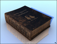free old book 3d model