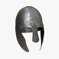 medieval viking helmet pbr 3d max