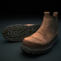 3d man leather boots