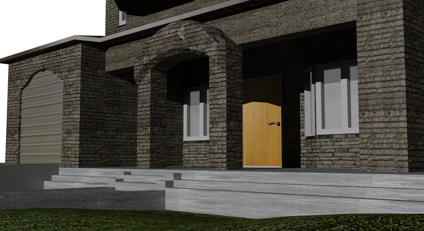 Simple house 3d x for Minimalist house 3d max