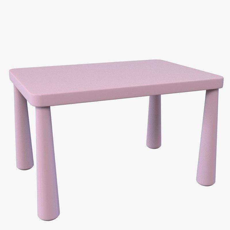 3d ma mammut table children. Black Bedroom Furniture Sets. Home Design Ideas