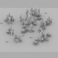 Cartoon Cactus Forest