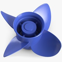 3d model of boat propeller