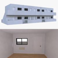 motel interior 3d model