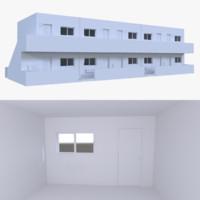 motel interior 3d obj