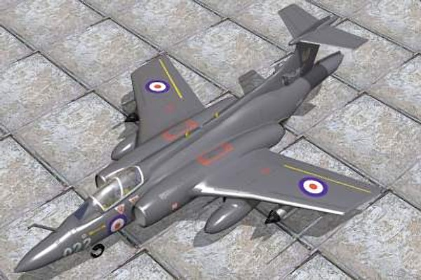 hawker siddeley buccaneer bomber 3d model - Hawker Siddeley Buccaneer S2... by pbratt