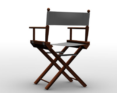 3d model director chair - director chair.blend... by gagool