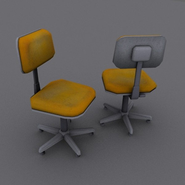 office chair 3d obj