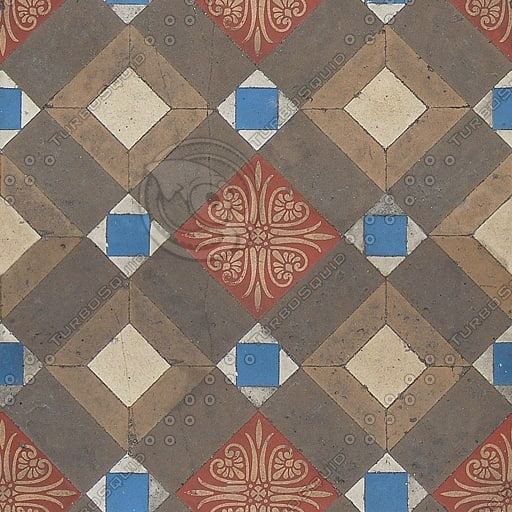 FL015 floral patterned floor tiles texture
