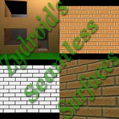 SRF yellow bricks brick wall texture