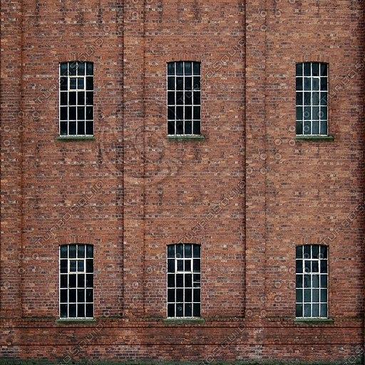 BF091 brick building facade
