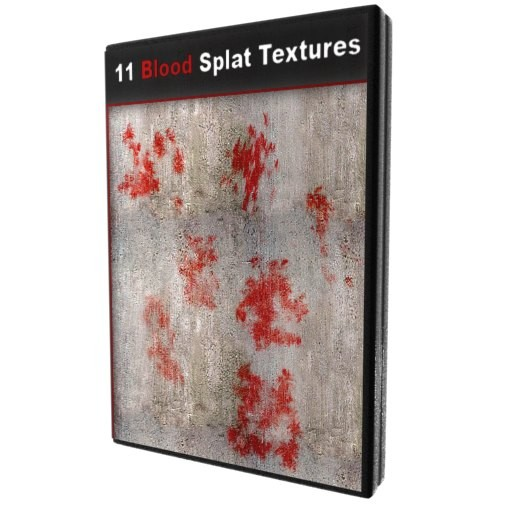11 Blood Splatter Textures With Aplha Maps