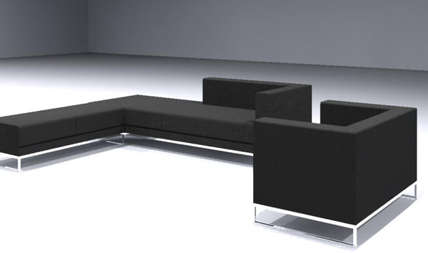 Sofa Contemporary Set of 3 pieces