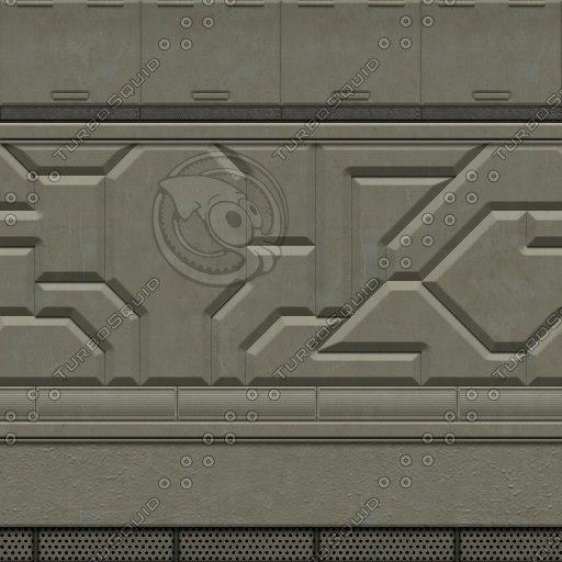SF057 spaceship wall sci-fi texture