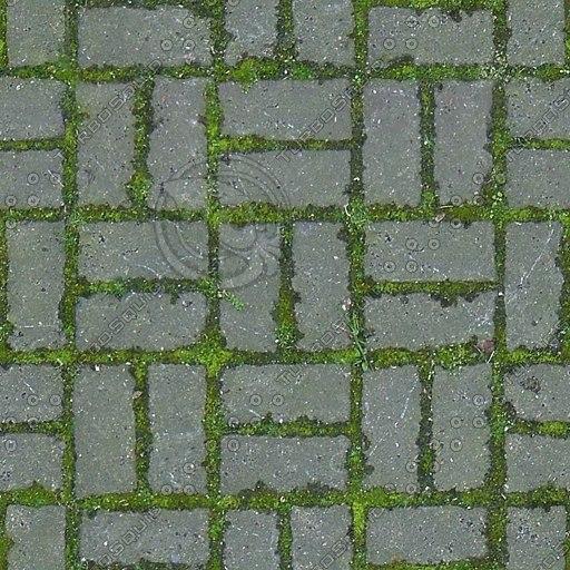 G222 brick paving mossy