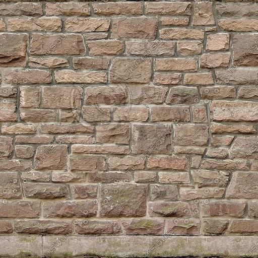W100 ashlar sandstone wall