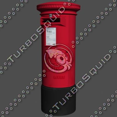 3ds max post box