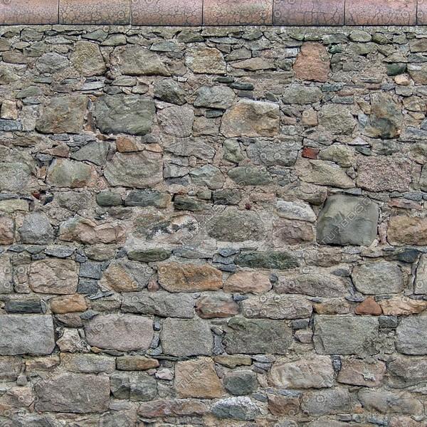 W071 garden stone wall