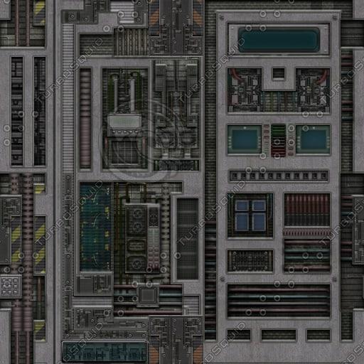 sf020 metal spaceship wall panels