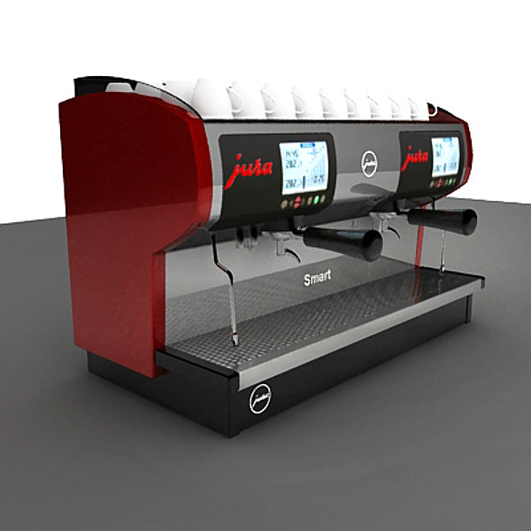 3ds max commercial espresso machine - espresso machine... by assouline