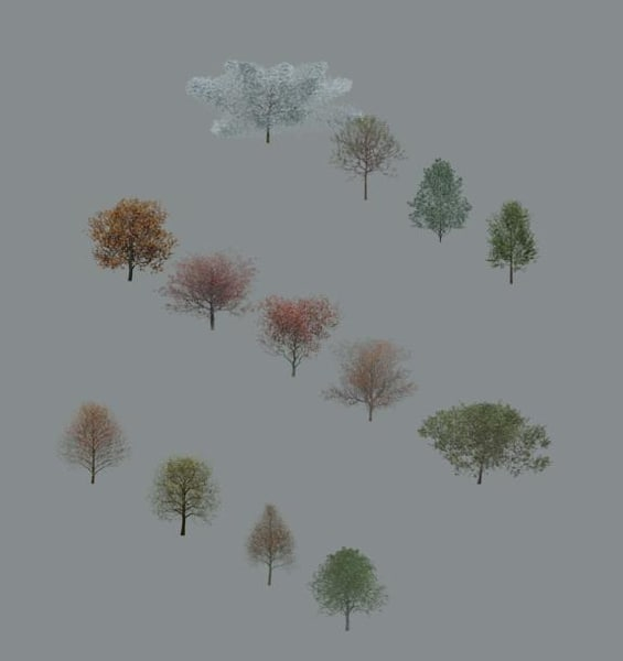 Tree-Deciduous_Collection_Vol-2