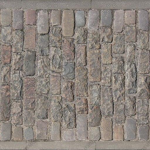 G048 sidewalk cobblestones paving