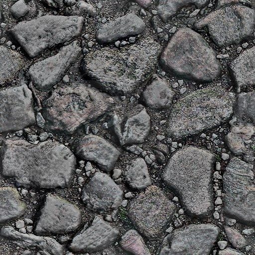 G076 cobbled road street texture