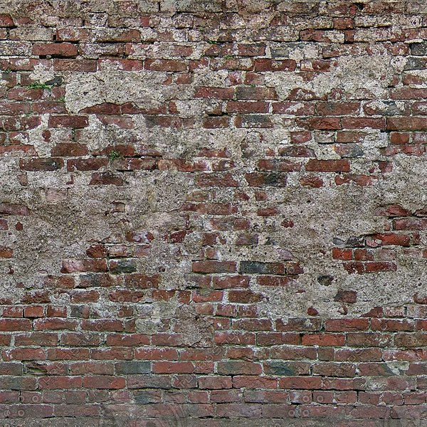 W364 old red brick wall texture