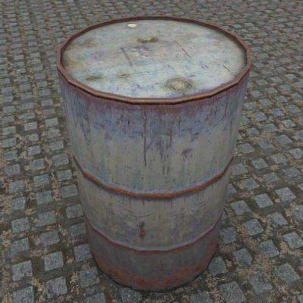 3ds max oil drum