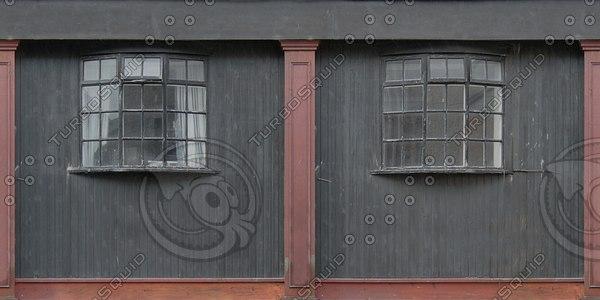 BF110 wooden wall facade texture