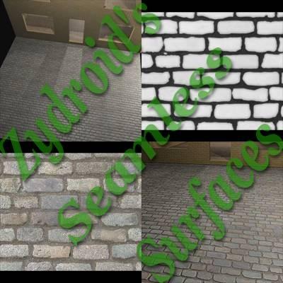 SRF cobblestones cobbled street road texture